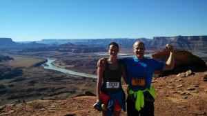16 miles into the Moab trail marathon in 2013