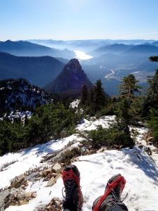 Ridiculous views. Looking out past Guye Peak