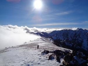 Selena coming up the ridge