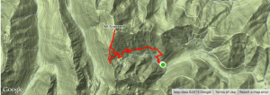 Topo map of the hike