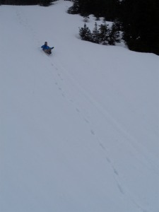 Dave's first glissade!