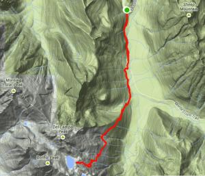 Screenshot of my Strava map