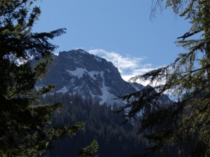 Snow capped peak along the trail - Appleton maybe?