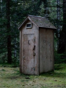 Classy outhouse