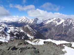 Stuart range from the peak of Navaho