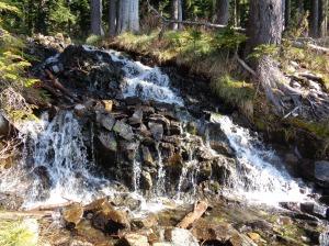 Waterfall past the lake