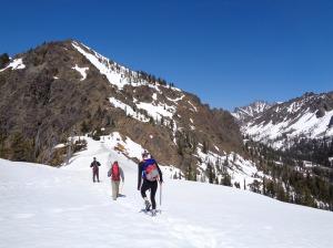 Starting down the ridge to Gene's Peak
