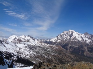 Ingalls (left) and Stuart (right) from Gene's Peak