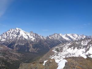 Stuart range from Gene's Peak