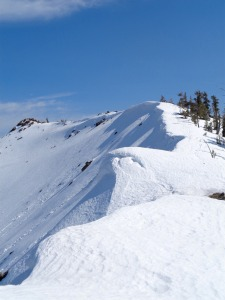 Cornices along the ridge