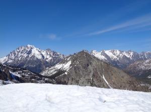 Stuart range behind Bill's Peak (from Iron Peak)