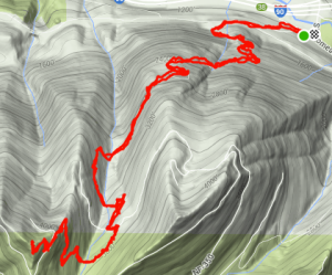 Strava map of Mt. Washington