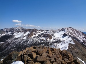 Looking east down the ridge to Earl, Navaho on the far left