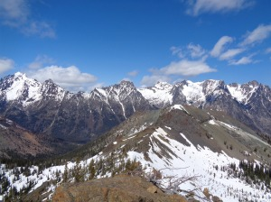 The Stuart range from Bean Peak