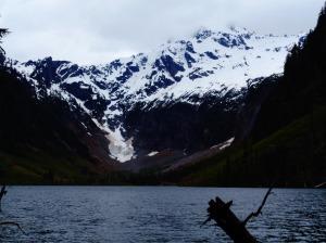 Foggy peak behind Goat Lake