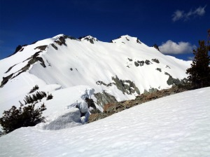Looking along the ridge to the East Peak