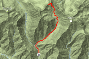 Strava Map of Bean Peak