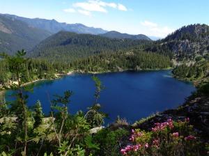Gaining elevation above Rachel Lake
