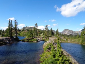 Three lakes, one pic! Rampart Lakes