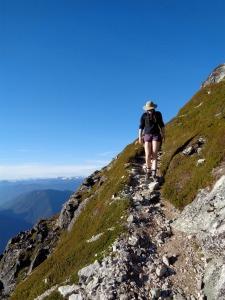 Trail beyond the scramble
