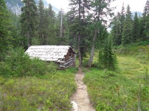 Cabin past Jade Lake