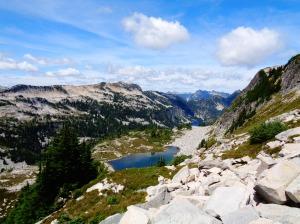 Looking back down at La Bohn Gap