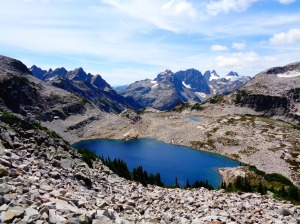 Summit Chief rising over one of La Bohn Lakes