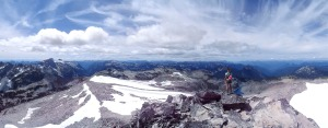 Panorama from just below the true summit