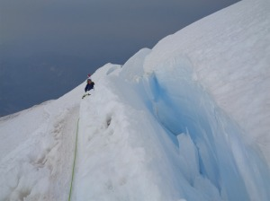 Small crevasse