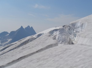 The crevasse that blocked us